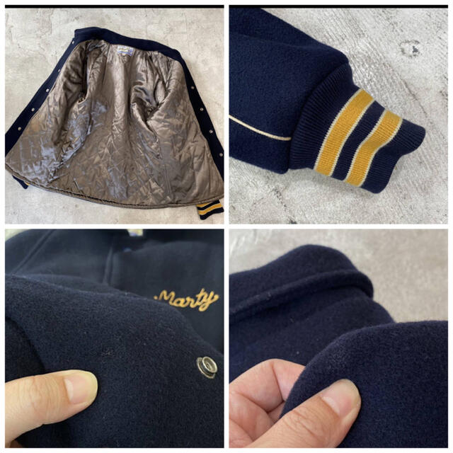 東洋エンタープライズ(トウヨウエンタープライズ)のホワイツビル 東洋エンタープライズ スタジャン メルトン ジャケット 36 メンズのジャケット/アウター(ブルゾン)の商品写真