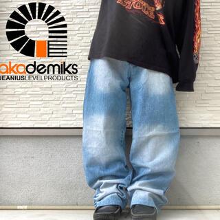 アカデミクス(AKADEMIKS)のアカデミクス ワイド デニム バギーパンツ スケーター hip hop (デニム/ジーンズ)