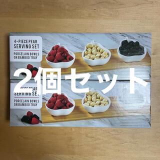 コストコ(コストコ)の【新品・送料込み】サービングセット バービングトレイ付 洋梨 [2個セット](食器)