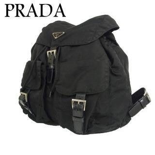 プラダ(PRADA)のプラダ ロゴ テスート ナイロン 巾着 バックパック リュックサック バッグ(バッグパック/リュック)