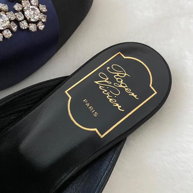 ROGER VIVIER(ロジェヴィヴィエ)のロジェヴィヴィエ ROGER VIVIER クリスタルビジュー付ミュール【新品】 レディースの靴/シューズ(ミュール)の商品写真