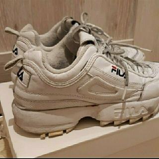 フィラ(FILA)のFILA フィラ 靴  厚底  スニーカー ホワイト 白(スニーカー)