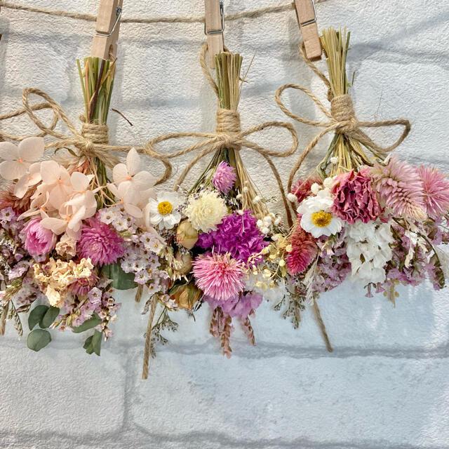 【2点おまとめ❁¨̮】ガーランドNo.361 & 花材詰合せNo.47 ハンドメイドのフラワー/ガーデン(ドライフラワー)の商品写真