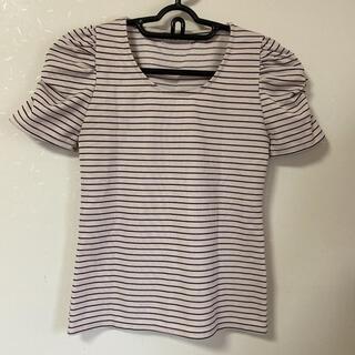 ノエラ(Noela)の美品Noela(ノエラ)ボーダー Tシャツ カットソー(カットソー(半袖/袖なし))