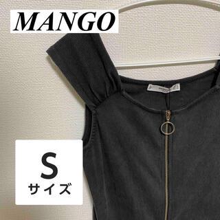 マンゴ(MANGO)の【タグ付き❗️】新品 未使用 レディース トップス MANGO  黒(シャツ/ブラウス(半袖/袖なし))