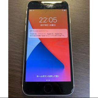 アイフォーン(iPhone)の訳あり simフリー iPhoneSE2 シルバー シムフリー ジャンク品(スマートフォン本体)