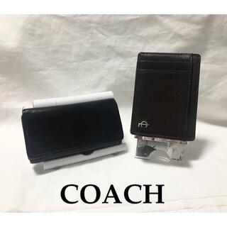 コーチ(COACH)のCOACH コーチ キーケース パスケース オールド 古着 革 セット(名刺入れ/定期入れ)