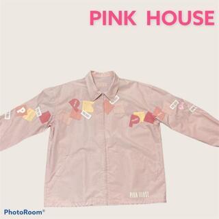 ピンクハウス(PINK HOUSE)のPINK HOUSE ピンクハウス ブルゾン ピンク パッチ ロゴ ジャケット(ブルゾン)