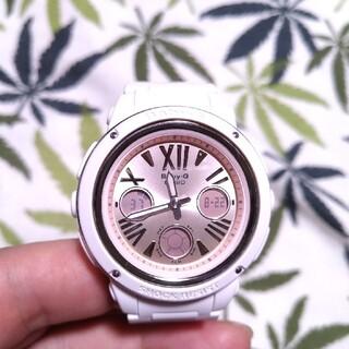 ベビージー(Baby-G)のCASIO Baby-G bga-152 ジーショック ホワイト×薄いピンク(腕時計)
