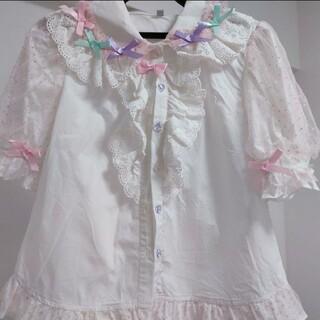 アンジェリックプリティー(Angelic Pretty)の ロリータ ブラウス 半袖 Mサイズ(シャツ/ブラウス(半袖/袖なし))