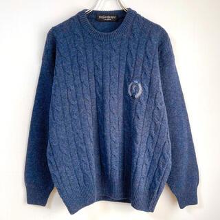 サンローラン(Saint Laurent)の希少 美品 イヴサンローラン ニット YSL 刺繍入り オーバーサイズ(ニット/セーター)