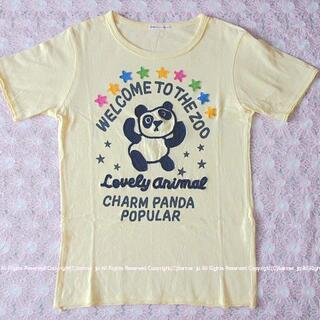 ラフ(rough)の超キュート! rough ラフ パンダ&お星様アップリケTシャツ/M(Tシャツ(半袖/袖なし))