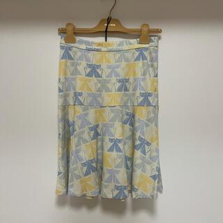 ミュウミュウ(miumiu)のスカート ねこ柄(ひざ丈スカート)