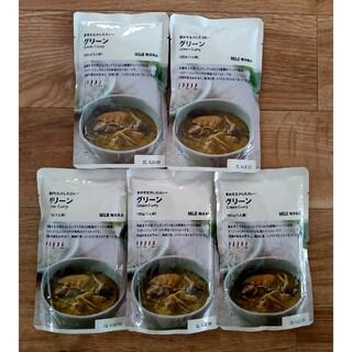 ムジルシリョウヒン(MUJI (無印良品))の【無印良品】 グリーンカレー×5袋(レトルト食品)