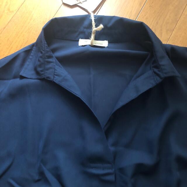 Solberry(ソルベリー)のsoulberry スキッパーシャツ 3L 大きいサイズ レディースのトップス(シャツ/ブラウス(長袖/七分))の商品写真