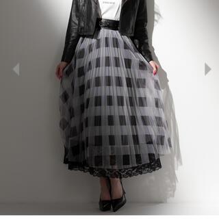 エミリアウィズ(EmiriaWiz)のブロックチェックチュールスカート ブラック(ロングスカート)
