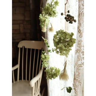 紫陽花農家さんのアナベル。アナベルと木の実のモビール。ドライフラワーガーランド(ドライフラワー)
