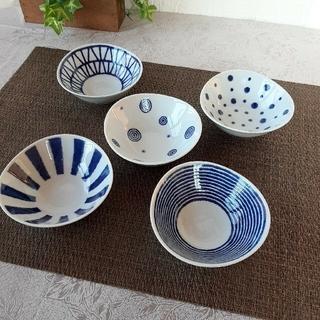 ハサミ(HASAMI)の2点おまとめ【5個】波佐見焼 藍玉 小付 小鉢 セットと小皿揃 (食器)