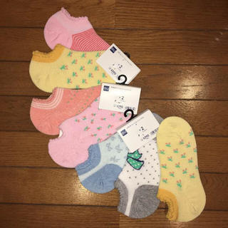 ジーユー(GU)の◆新品・未使用◆GU GIRLS ソックス 21cm〜24cm   7足セット(靴下/タイツ)