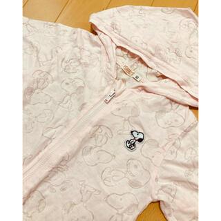 ニシマツヤ(西松屋)の新品 フード パーカー  羽織り スヌーピー  シースルー  90(カーディガン)