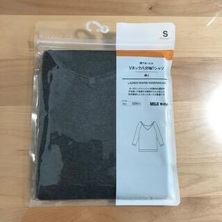 ムジルシリョウヒン(MUJI (無印良品))の無印良品 レディース 綿であったか VネックTシャツ(アンダーシャツ/防寒インナー)