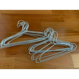 ムジルシリョウヒン(MUJI (無印良品))の無印良品 アルミ洗濯用ハンガー 20本  約幅33㎝(その他)