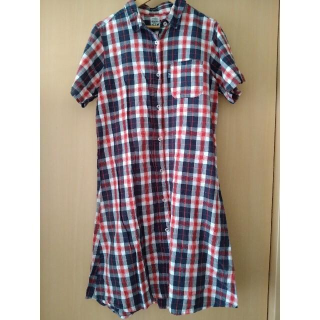 rough(ラフ)のシャツワンピース rough レディースのワンピース(ひざ丈ワンピース)の商品写真
