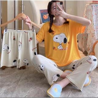 スヌーピー(SNOOPY)の2021年最新版 パジャマ ルームウエア3点セット 可愛い スヌーピ(パジャマ)