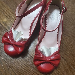 ベイビーザスターズシャインブライト(BABY,THE STARS SHINE BRIGHT)の最終値下げ【BABY】 ウェッジソールシューズ サイズM(ローファー/革靴)