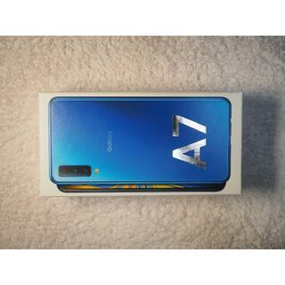 ギャラクシー(galaxxxy)の送料無料 Samsung Galaxy A7 SIMフリー ブルー サムスン(スマートフォン本体)