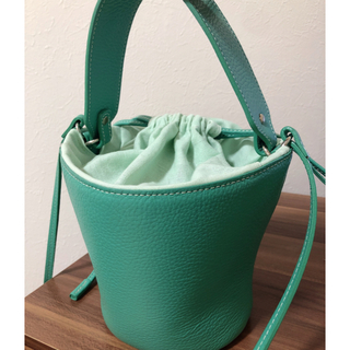 ドゥロワー(Drawer)のayako Pottery bag エメラルド ショルダーバッグ(ショルダーバッグ)
