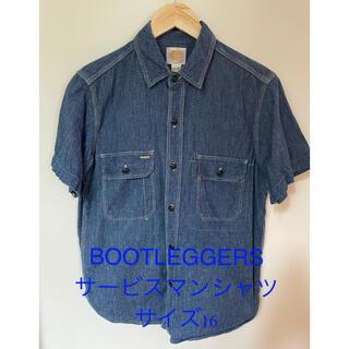 フリーホイーラーズ(FREEWHEELERS)の【美品】BOOTLEGGERS サービスマンシャツ サイズ16(シャツ)