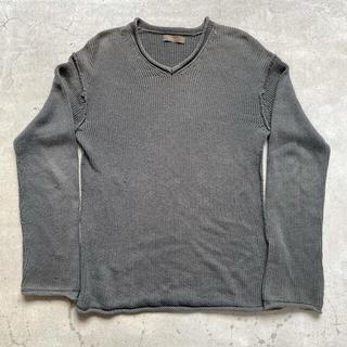 ヨウジヤマモト(Yohji Yamamoto)の【希少】Y's Vネック コットンニット セーター yohji yamamoto(ニット/セーター)