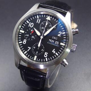 インターナショナルウォッチカンパニー(IWC)のIWC パイロット ウォッチ クロノグラフ IW371704 42㎜ ブラック(腕時計(アナログ))