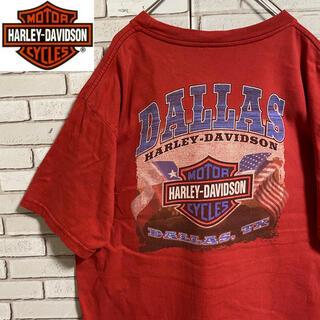 ハーレーダビッドソン(Harley Davidson)の90s 古着 ハーレーダビッドソン  USA製 XL バックプリント ゆるだぼ(Tシャツ/カットソー(半袖/袖なし))