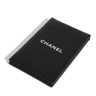 CHANEL - シャネル コンパクト ミラー 手鏡 ロゴ ブラック 小物