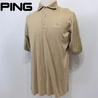 ピン(PING)のPING◆ゴルフポロシャツ◆ブロンズ(ウエア)