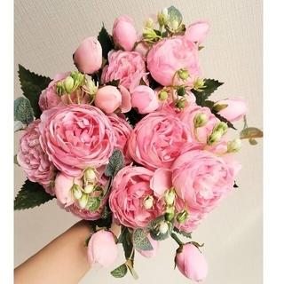 たっぷり 造花 まとめ売り フラワー シルクフラワーアートフラワー ピンク(その他)