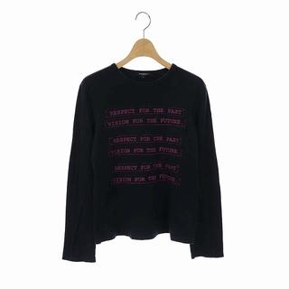 バーバリー(BURBERRY)のバーバリー プリント長袖カットソー Tシャツ プルオーバー 2 黒 紫(カットソー(長袖/七分))