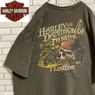 ハーレーダビッドソン(Harley Davidson)の90s 古着 ハーレーダビッドソン 3XL バックプリント ビッグシルエット(Tシャツ/カットソー(半袖/袖なし))