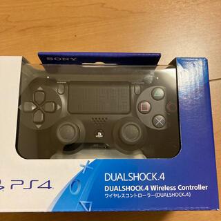 プレイステーション4(PlayStation4)のPS4純正ワイヤレスコントローラ黒(DUALSHOCK4)新品未開封(その他)