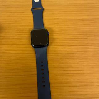 アップルウォッチ(Apple Watch)のApple Watch 6 GPSモデル 40mm ブルー スポーツバンド(その他)