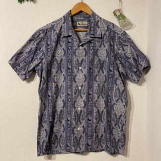 アクアスキュータム(AQUA SCUTUM)のaquascutum 総柄オープンカラーシャツ(シャツ)