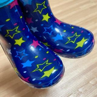 長靴 レインブーツ キッズ 15cm 星柄(長靴/レインシューズ)