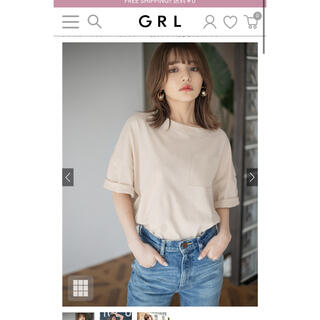 グレイル(GRL)の胸ポケット付きビッグTシャツ(Tシャツ/カットソー(半袖/袖なし))