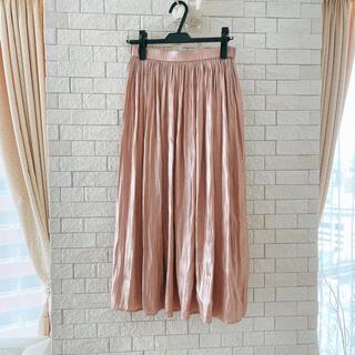 エニィファム(anyFAM)のエニィファム シャイニーサテンスカート プリーツスカート (ロングスカート)