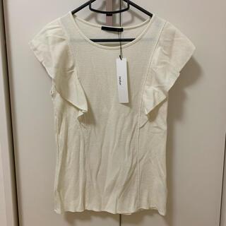 ヘザー(heather)のヘザー 新作 フリル袖 半袖 Tシャツ ニット デザイン袖 ノースリーブ(Tシャツ(半袖/袖なし))