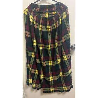 ツモリチサト(TSUMORI CHISATO)のツモリチサト チェックロングスカート(ロングスカート)