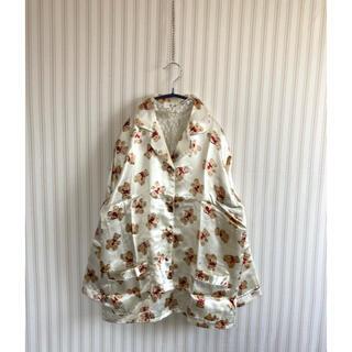 古着 ヴィンテージ   くまさん 総柄シャツ パジャマシャツ ビンテージ(シャツ/ブラウス(長袖/七分))
