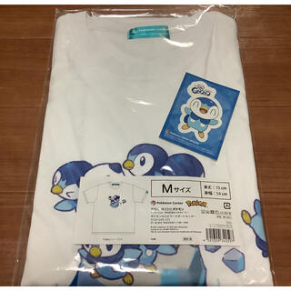 ポケモン(ポケモン)のポケモン ポッチャマとミジュマル Tシャツ Mサイズ ステッカー(Tシャツ/カットソー(半袖/袖なし))